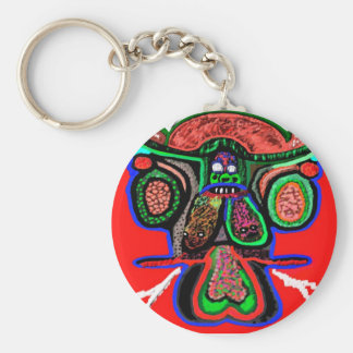 Party Animal - Red Bull in high spirits Basic Round Button Keychain
