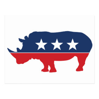 Party Animal - Rhino Postcard