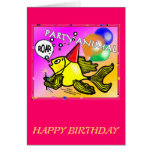 Party Animal Roaring Fish funny cute sparky comics Cards