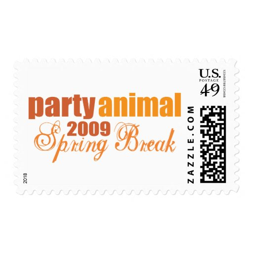 party animal spring break 2009 stamps