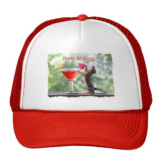 Party Animal Squirrel Mesh Hat