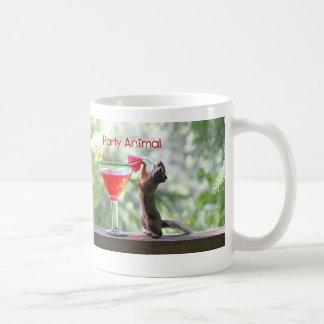 Party Animal Squirrel Classic White Coffee Mug