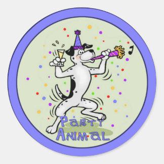 Party Animal Classic Round Sticker