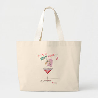 party animal, tony fernandes large tote bag