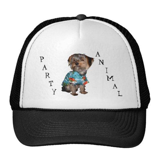 Party Animal Yorkie Mesh Cap Trucker Hat