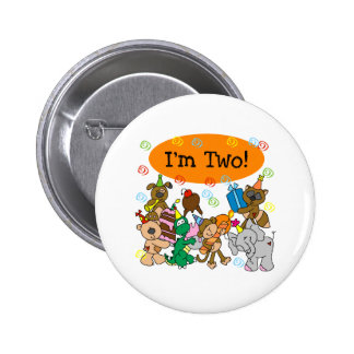Party Animals 2nd Birthday Pinback Button