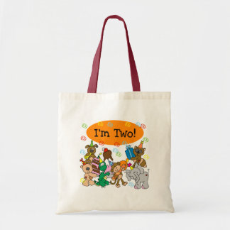 Party Animals 2nd Birthday Tshirts and Gifts Canvas Bags