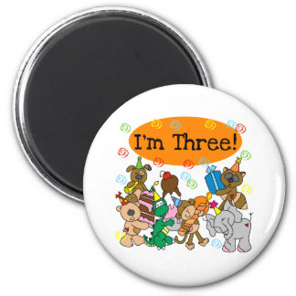 Party Animals 3rd Birthday Magnet