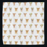 "PARTY ANIMALS BANDANA<br><div class=""desc"">PARTY ANIMAL PATTERN FROM MONKEY BUSINESS GRAPHIC DESIGN.</div>"