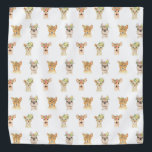 """PARTY ANIMALS BANDANA<br><div class=""""desc"""">PARTY ANIMAL PATTERN FROM MONKEY BUSINESS GRAPHIC DESIGN.</div>"""