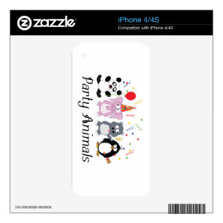 Party Animals Decal For iPhone 4