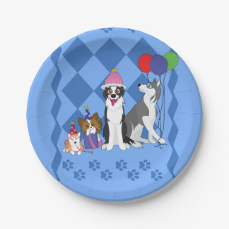 Party Animals Paper Plate