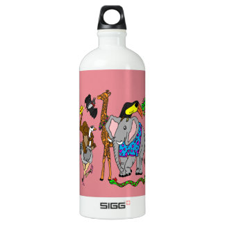 Party Animals With Pink Background SIGG Traveler 1.0L Water Bottle