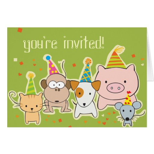 party animals -- you're invited! card