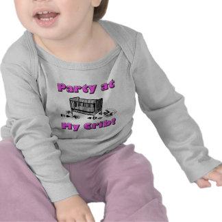 Party at my Crib! Pink T-shirt