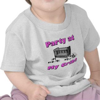 Party at my Crib! Pink T Shirts