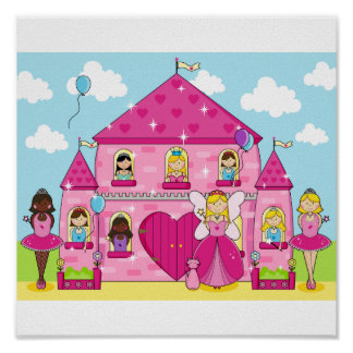 Party at the Enchanted Pink Castle Poster