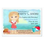 "Party at the Shore Invitation 5"" X 7"" Invitation Card"
