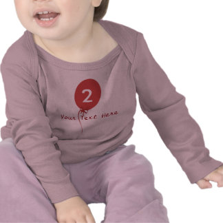Party Baby Shower Children Red Balloon Heart Bow Tee Shirts