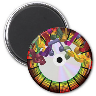 Party Background 2 Inch Round Magnet