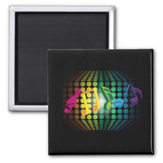 Party Background 2 Inch Square Magnet