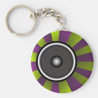 Party Background Basic Round Button Keychain
