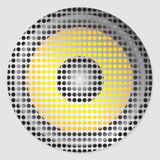 Party Background Classic Round Sticker