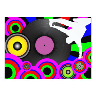 Party Background 5x7 Paper Invitation Card