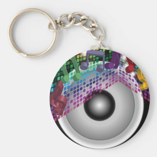 Party Background Keychain