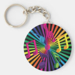 Party Background Keychains