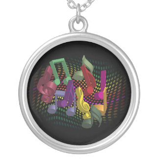 Party Background Round Pendant Necklace