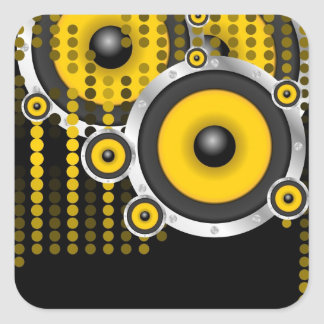 Party Background Square Sticker
