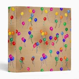 Party Ballons 3 Ring Binder