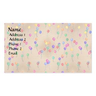 Party Ballons Double-Sided Standard Business Cards (Pack Of 100)