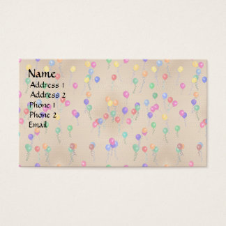 Party Ballons Business Card