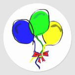 Party Ballons Round Stickers