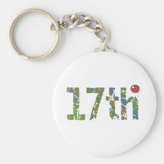 Party Balloon 17th Birthday Gifts Keychain