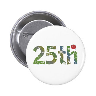 Party Balloon 25th Birthday Gifts Pinback Button