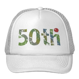 Party Balloon 50th Birthday Gifts Trucker Hat