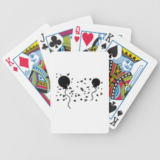 Party Balloons and Confetti Bicycle Card Deck