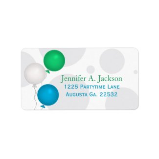 Party Balloons Avery Address Labels label