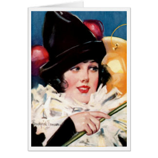 """""""PARTY BALLOONS"""" BIRTHDAY GIRL COVERART GREETING CARD"""