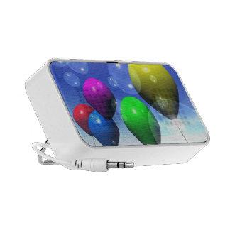 Party Balloons & Bubbles Doodle Portable Speaker