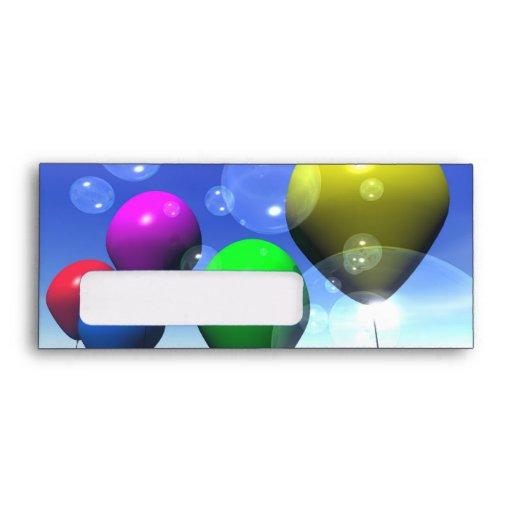 Party Balloons & Bubbles Envelope
