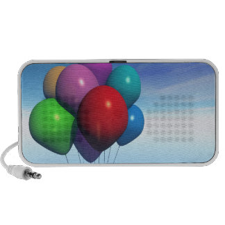 Party Balloons Bunch Doodle Portable Speaker