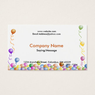 Party Balloons Business Cards