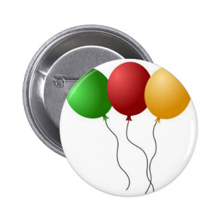 PARTY BALLOONS PINBACK BUTTON