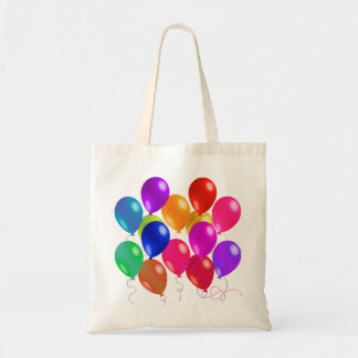 Party Balloons In A Rainbow Of Colors Budget Tote Bag