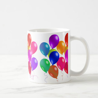 Party Balloons In A Rainbow Of Colors Coffee Mug