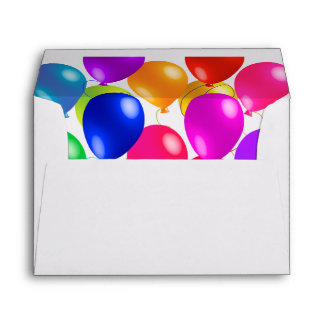 Party Balloons In A Rainbow Of Colors Envelope